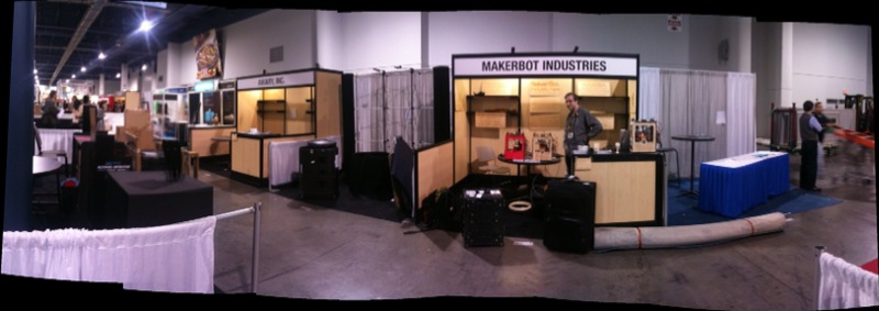 MakerBot CES booth panorama